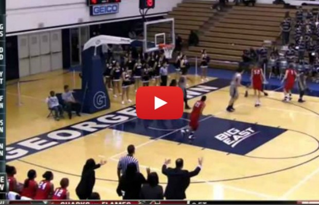 VIDEO: B-Ball player throws shoe to block shot