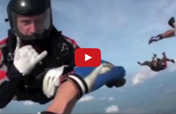 VIDEO: Unconscious skydiver rescued mid-air