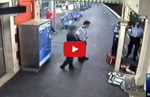 VIDEO: Woman survives fall from train