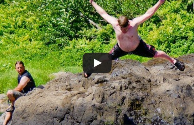 VIDEO: More summer fun with belly flops!